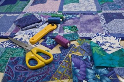 fabric & scissors