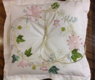 Lesa embroidered wedding pillow