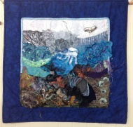 This came from a class on crazy quilting that evolved into something quite different