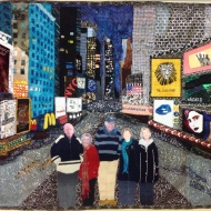Kaye's 2013 challenge quilt 'Welcome to Times Square'