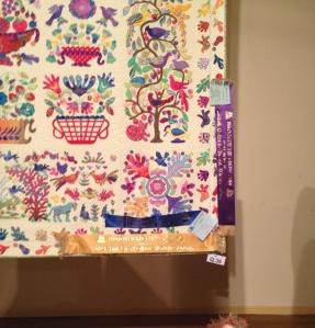 A little peep at Lesa's prizewinning quilt