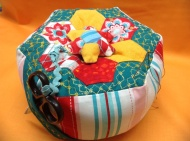 Margaret's hexie pincushion