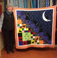 Margaret's magnificent cat quilt
