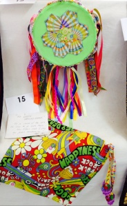 "Lesa thought outside the box and created ""My Green Tambourine"" with a matching bag - a child of the 60's indeed"