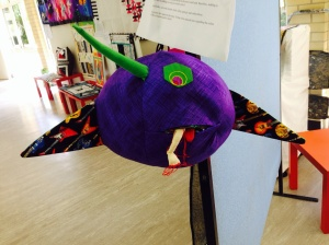 Speaking of 'outside the box' June's purple people eater definitely ticked the creative box