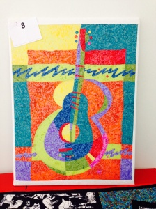 Debbie's abstract guitar canvas