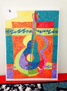 Debbie's abstract guitar canvas