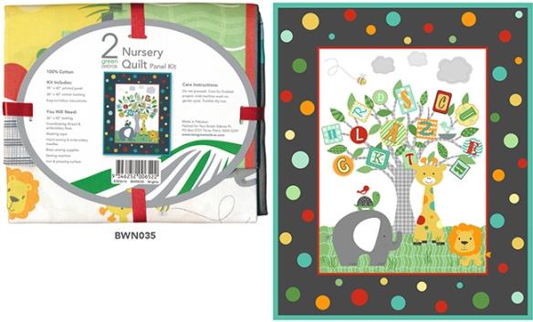 Nursery quilt kits