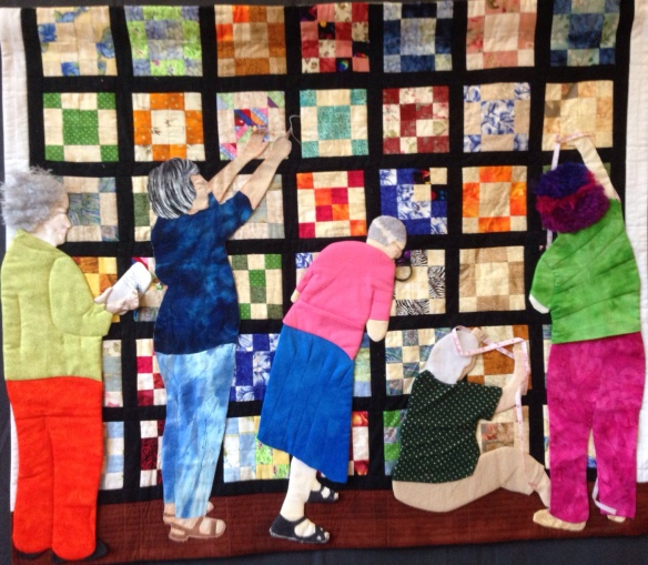 'Quilt Police', Liz McAnish, Elizabeth McCallum, Mavis Wright, Marilyn Hall and Barb McIlvain