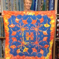 We've enjoyed watching Bev hand quilt this beauty for a while now and it was great to see it finished. An awesome example of reverse appliqué