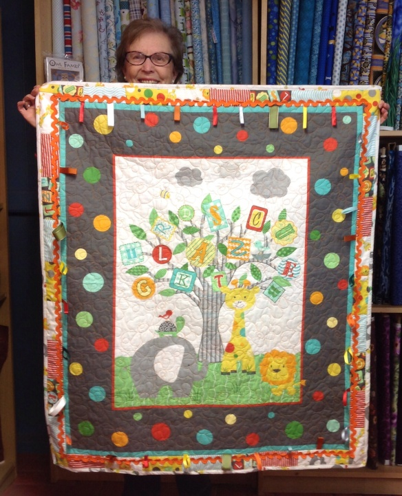 Pat nailed her version of the kid's quilt kit