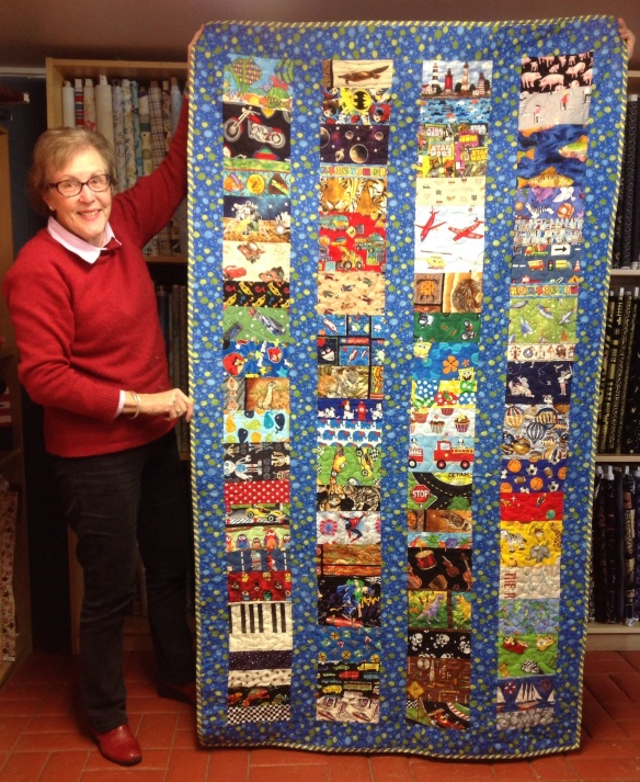 And Pat also whipped up this bespoke eye spy quilt in a very short time