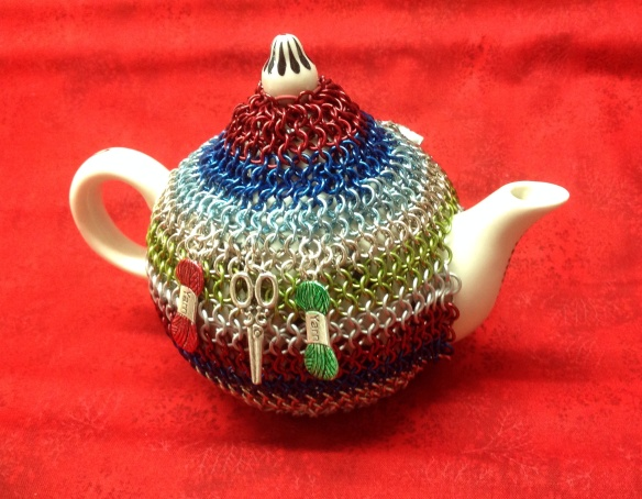 Suzanne's tea cosy design goes medieval